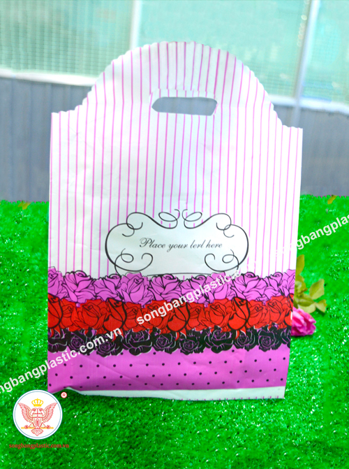 Plastic Gift Bag With Handle